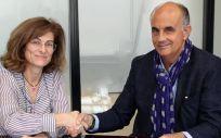 Presidentes de las asociaciones de Facme y ENAC en la firma del acuerdo (Foto. ConSalud)