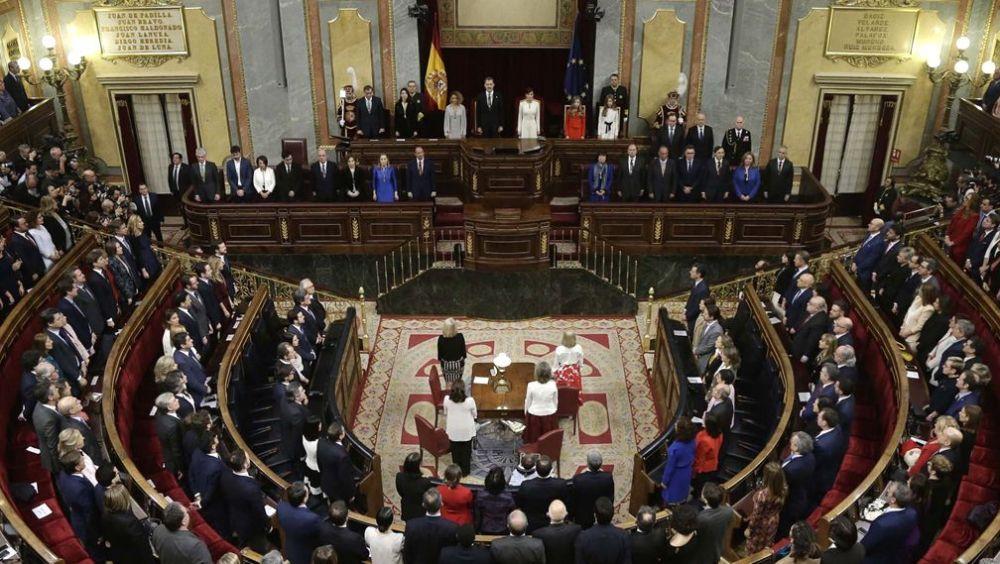 El pleno del Congreso durante la apertura solemne de la XIV Legislatura (Foto: Congreso de los Diputados).