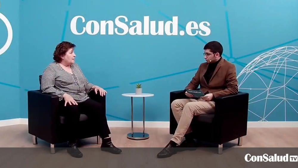 La presidenta del Grupo de Pacientes con Cáncer (Gepac), Begoña Barragán, durante la entrevista en el plató de ConSaludTV. (Foto. ConSalud)