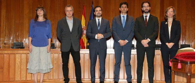 El ministro de Consumo, Alberto Garzón, junto a los nuevos altos cargos del gabinete (Foto. Ministerio de Consumo)
