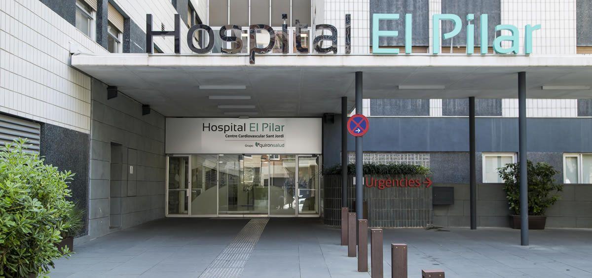 Fachada del Hospital El Pilar (Foto. Páina del Hospital)