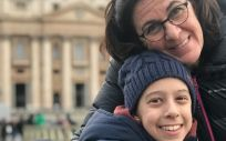 Carmen y su hija Candela durante un viaje a Roma. (Foto. Ascari)