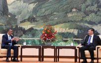 El director general de la Organización Mundial de la Salud (OMS), Tedros Adhanom Ghebreyesus y el presidente de la República Popular de China, Xi Jinping (Foto. OMS)