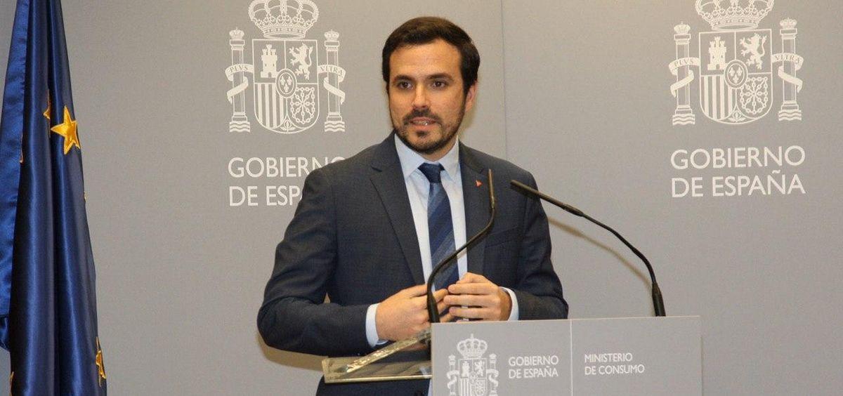 El ministro de Consumo, Alberto Garzón. (Foto. Ministerio de Consumo)