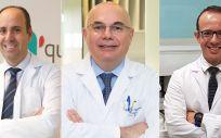 Javier Cortés, Josep Tabernero y José Manuel Pérez, los doctores que han participado en el estudio (Foto. ConSalud)