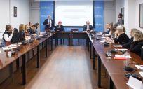Reunión sobre la Comisión Interdepartamental para la Estrategia Integral de Medicina Personalizada de Navarra (Foto. Gobierno de Navarra)