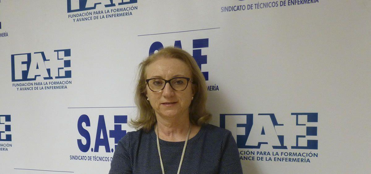 La secretaria de Organización de SAE, Isabel Lozano. (Foto. CS)