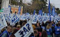TCE durante una manifestación en Madrid. (Foto SAE)
