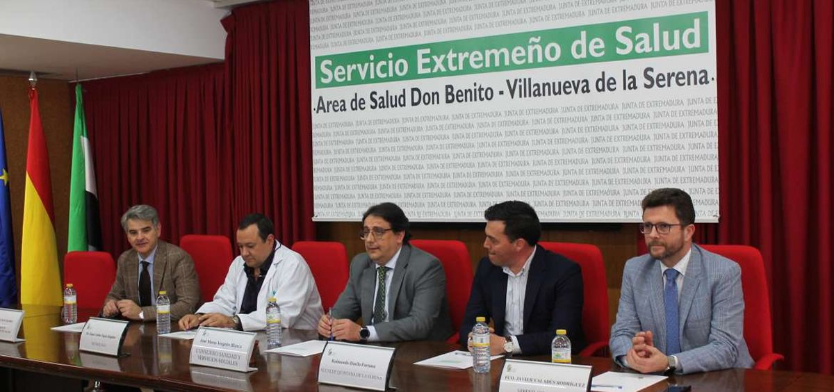 Presentación del nueva área de Alta Resolución para la Silicosis (Foto. Junta de Extremadura)
