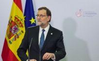 El presidente del Gobierno, Mariano Rajoy, en la rueda de prensa posterior a la cumbre.