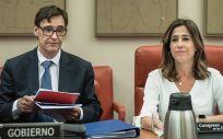 El ministro de Sanidad, Salvador Illa y Rosa Romero, presidenta de la Comisión de Sanidad y Consumo del Congreso de los Diputados (Foto. Flickr PP)