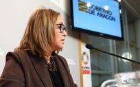 Mayte Pérez, consejera de Presidencia y Relaciones Institucionales del Gobierno de Aragón (Foto. Gobierno de Aragón)