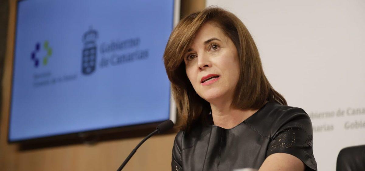 Teresa Cruz Oval, consejera de Sanidad de Canarias (Foto. Gobierno de Canarias)