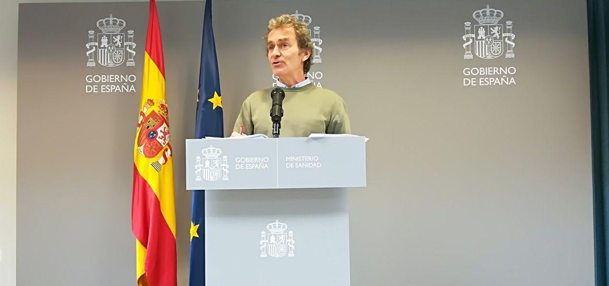 Fernando Simón, este domingo durante su comparecencia en el Ministerio de Sanidad (Foto: Juanjo Carrillo Córdoba - ConSalud.es)