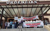 Manifestación contra las agresiones a sanitarios (Foto. Consalud.es)