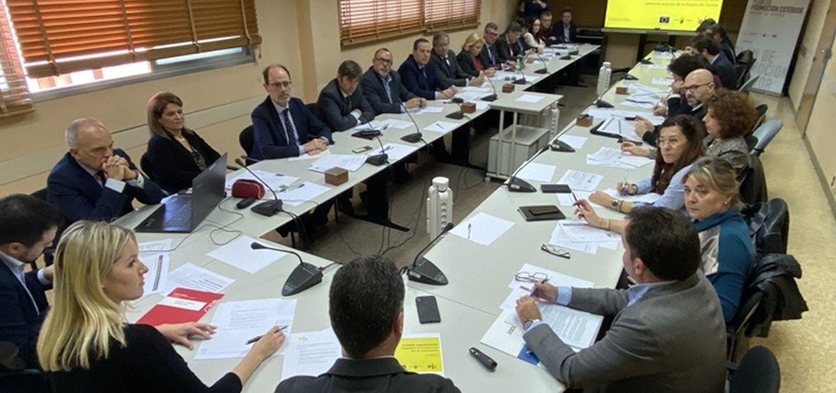 La consejera de Empresa, Industria y Portavocía, Ana Martínez Vidal, preside el Comité de Vigilancia Coronavirus (Foto. Gobierno de Murcia)