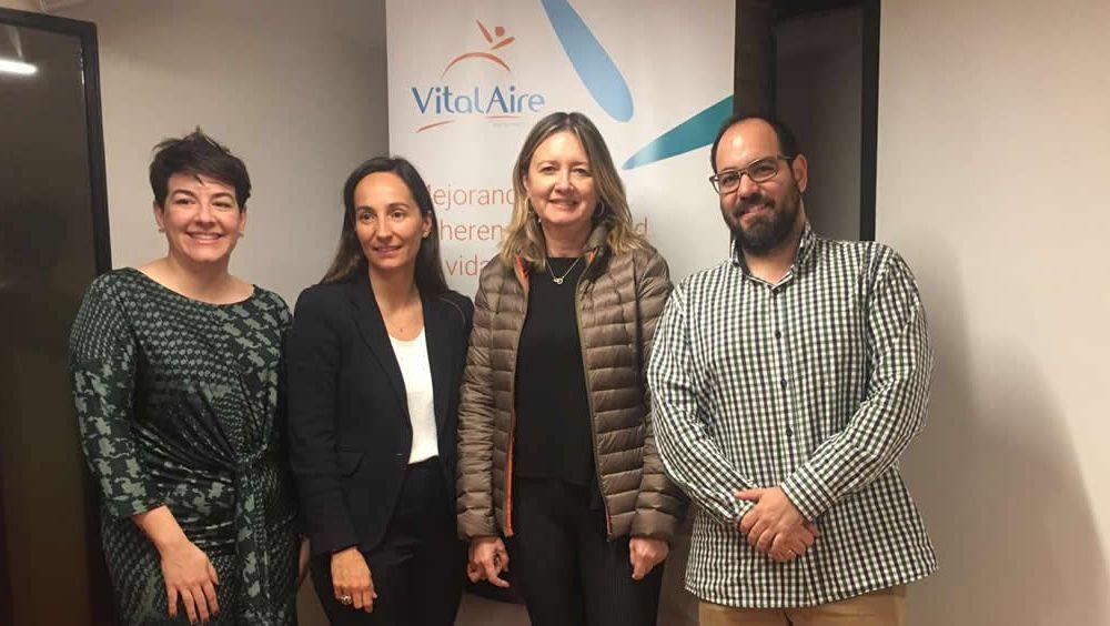 Eva Martínez, Ana Román, Inés Vergara y el doctor Pedro Landete.