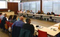 Reunión constitutiva del grupo de trabajo multidisciplinar (Foto. Sescam)