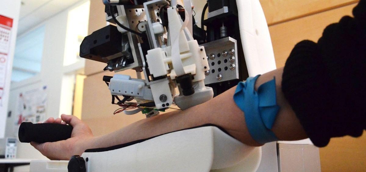 Nuevo dispositivo de extracción de sangre automático (Foto: Universidad de Rutgers)