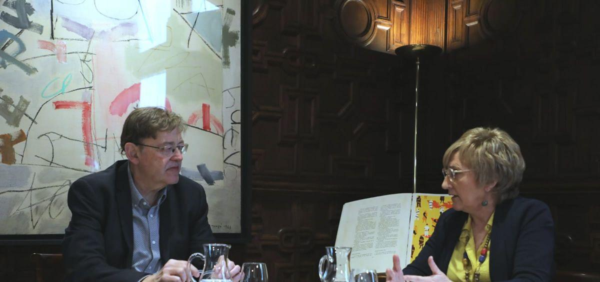 El presidente de la Generalitat, Ximo Puig, y la consejera de Sanidad, Ana Barceló (Foto. Comunidad Valenciana)