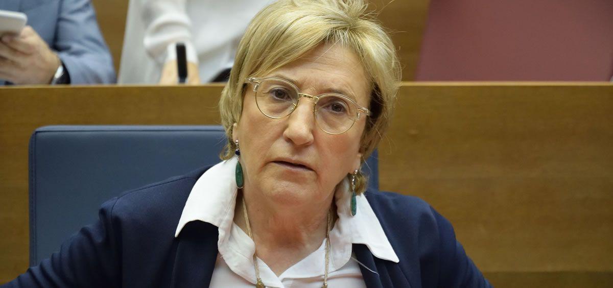 La consejera de Sanidad, Ana Barceló. (Foto. Inma Caballer   Flickr Cortes Valencianas)
