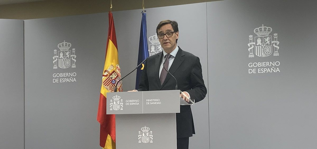 El ministro de Sanidad, Salvador Illa, durante la comparecencia este lunes. (Foto. Consalud.es)