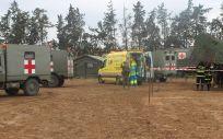 Ejercicio conjunto entre las Fuerzas Armadas Españolas y profesionales del SUMMA 112 (Foto: Ejército de Tierra)