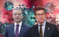 El lehendakari vasco, Íñigo Urkullu, y el presidente gallego, Alberto Núñez Feijóo. (Fotomontaje ConSalud)