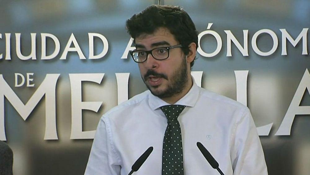 Moha Mohamed Mohand, consejero de Salud Pública de Melilla (Foto. TV Melilla)