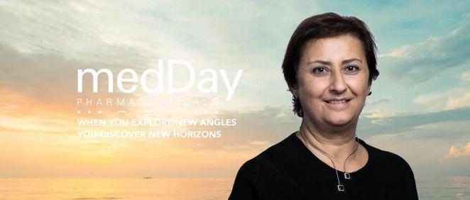 Catherine Moukheibir, CEO de MedDay Pharmaceuticals (Foto. Fotomontaje ConSalud)