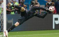 El portero del Real Madrid, Thibaut Courtois, durante un partido (Foto: Wikipedia)