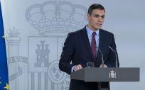 Pedro Sánchez, presidente del Gobierno, declara el estado de alarma por el coronavirus (Foto: Pool Moncloa / Borja Puig de la Bellacasa)