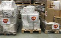 GSK España dona material de protección individual para los profesionales sanitarios (Foto. GSK España)