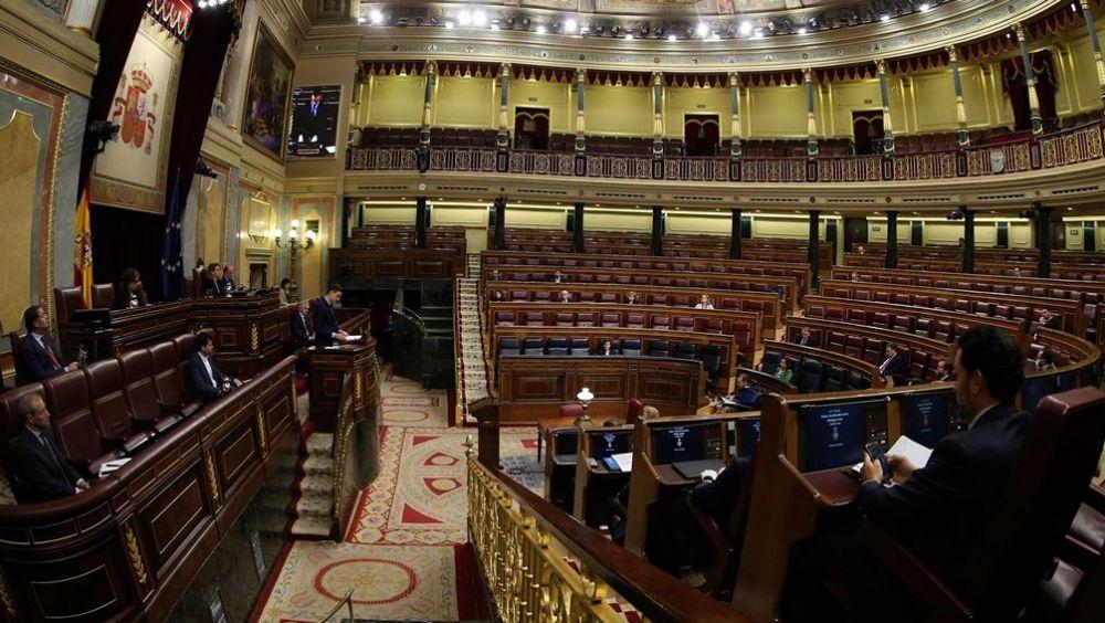El Congreso de los Diputados casi vacío durante la comparecencia de Pedro Sánchez sobre el coronavirus (Foto: Flickr PSOE)