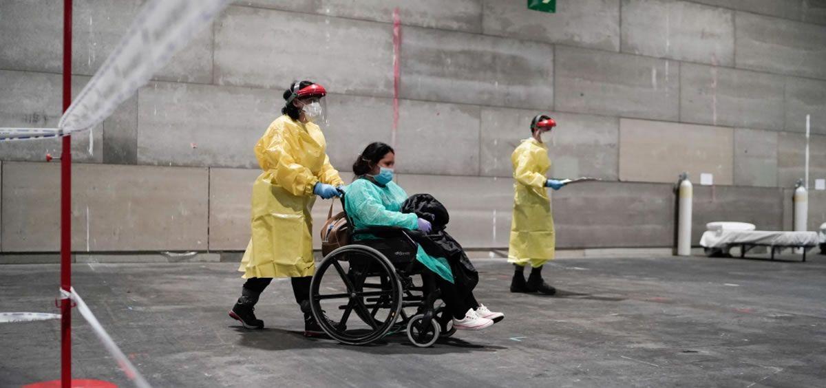 Primeros pacientes en Ifema (Foto. Comunidad de Madrid)