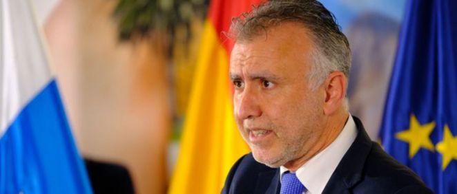 Ángel Víctor Torres, presidente del Gobierno de Canarias, pide al Ejecutivo central más kits de detección rápida (Foto. Gobierno de Canarias)