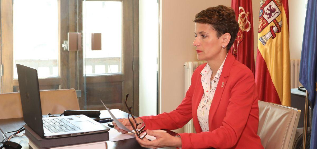 María Chivite, presidenta de Navarra (Foto. Gobierno de Navarra)