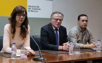 Eduardo de Castro (centro) ha transmitido al presidente del Gobierno la necesidad de test rápidos en Melilla (Foto. Gobierno de Melilla)
