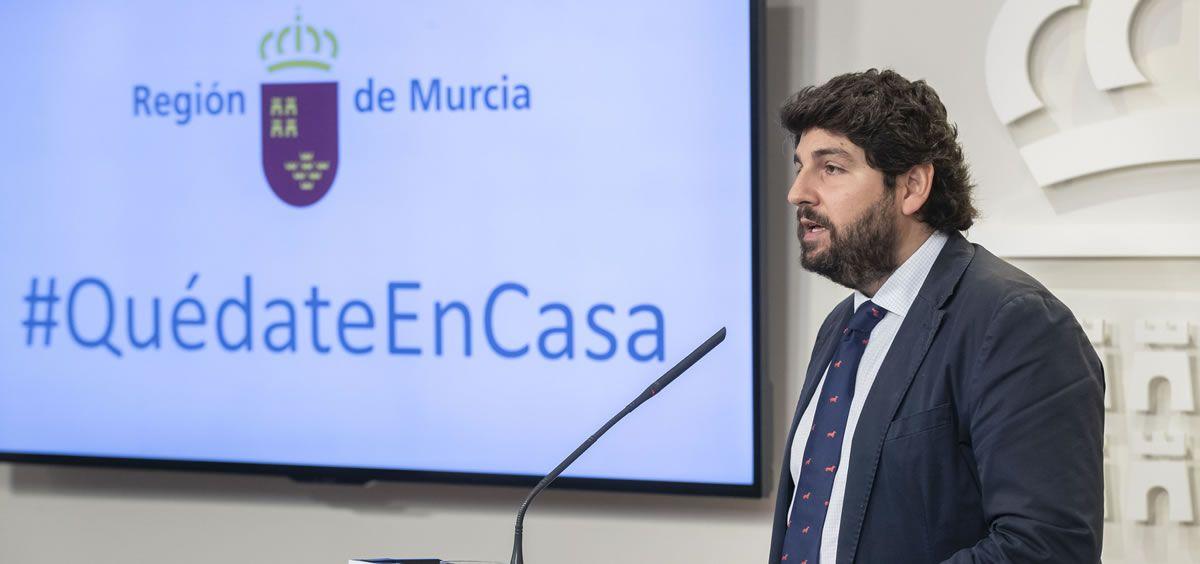 Fernando López Miras, presidente de la Región de Murcia (Foto. Gobierno Murcia)