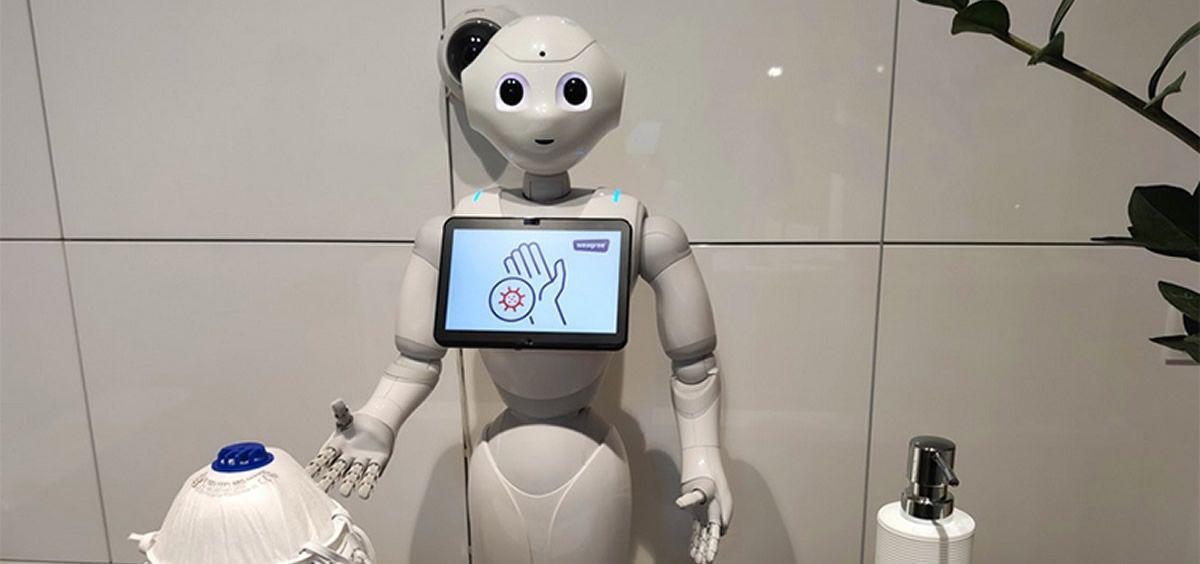 Nuevo Robot  recepcionista (Foto. Weegree) Mari