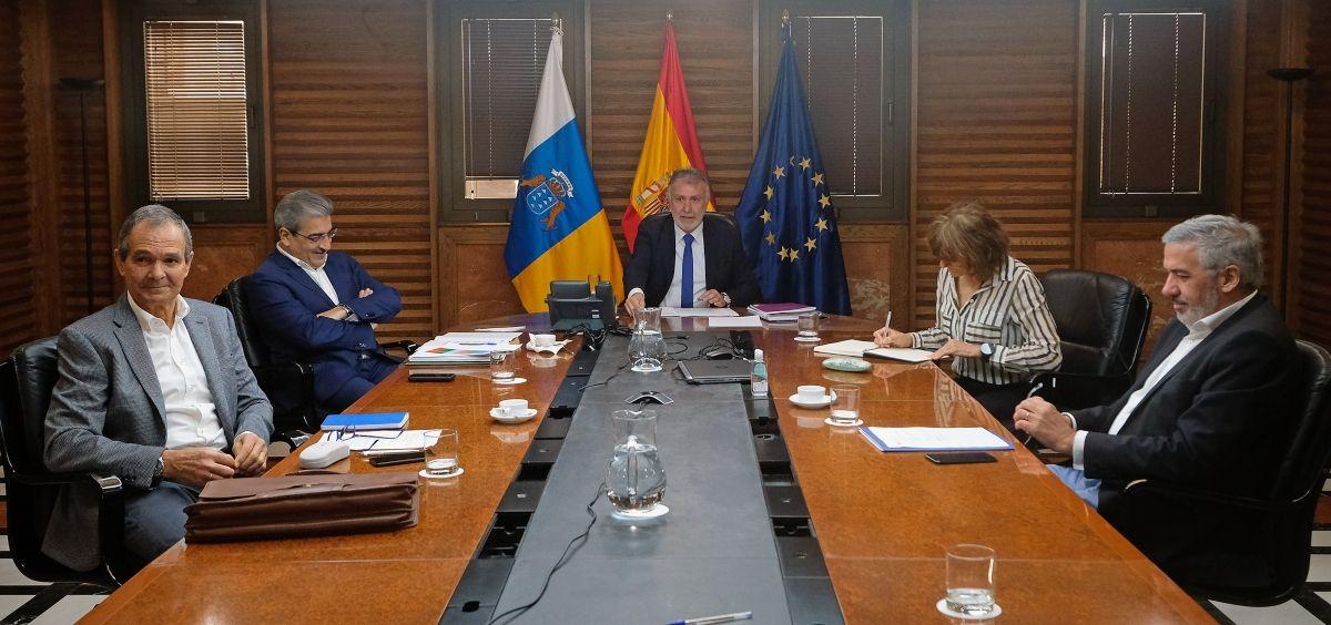Reunión del Comité sanitario (Foto. Gobierno de Canarias)
