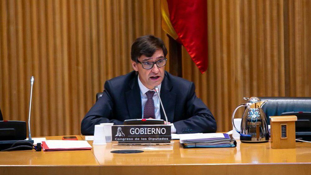 Salvador Illa, ministro de Sanidad, compareciendo en la Comisión de Sanidad (Foto: Congreso de los Diputados)