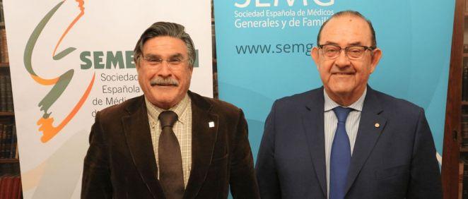 Los doctores José Luis Llisterri y Antonio Fernández-Pro, presidentes de SEMERGEN y SEMG (Foto: SEMERGEN)