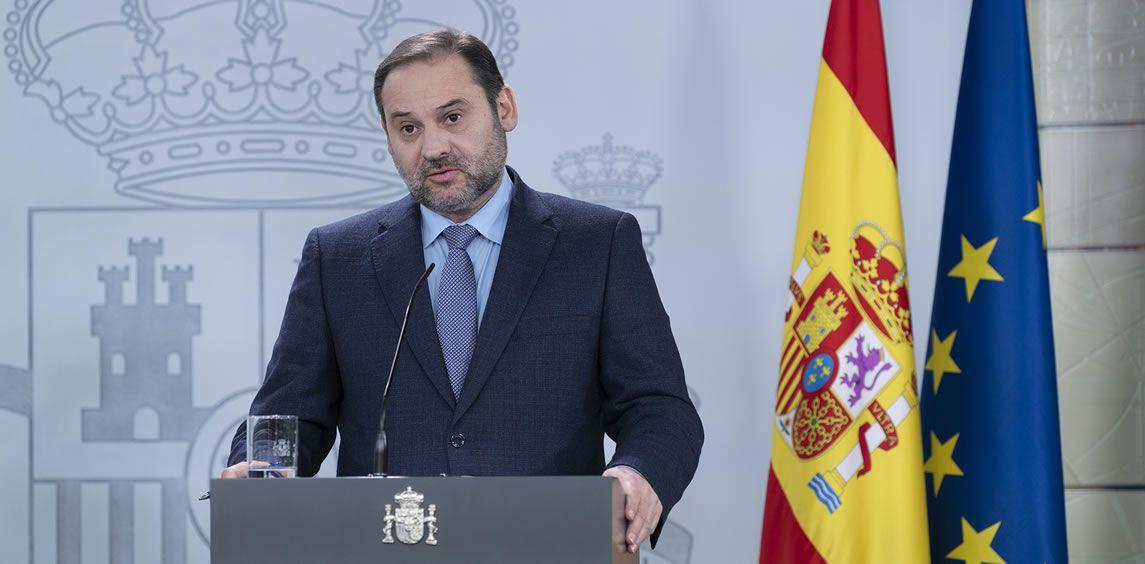 José Luis Ábalos, ministro de Transportes, Movilidad y Agenda Urbana (Foto. La Moncloa)