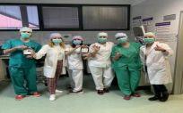 Profesionales de los Centros de Donación del Sescam (Foto. Castilla La Mancha)