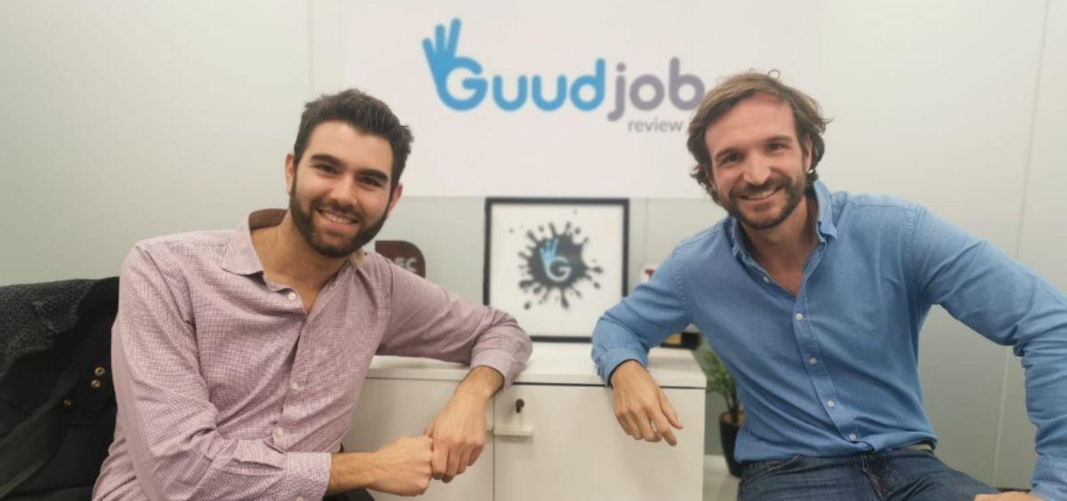 Bernardo Montero y Jaime Fernández, fundadores de Guudjob. (Foto. Guudjob)