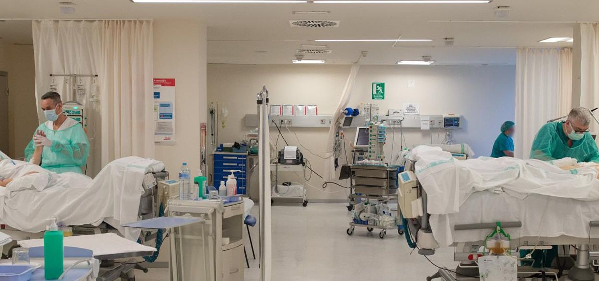 Pacientes ingresados por Covid 19 (Foto. Sescam)