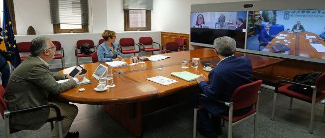 Reunión del Consejo de Gobierno (Foto. Gobierno de Canarias)