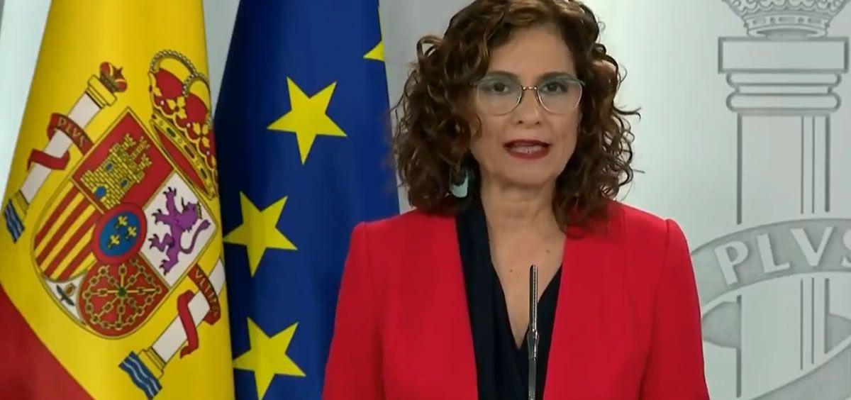 María Jesús Montero, portavoz del Gobierno (Foto. ConSalud.es)