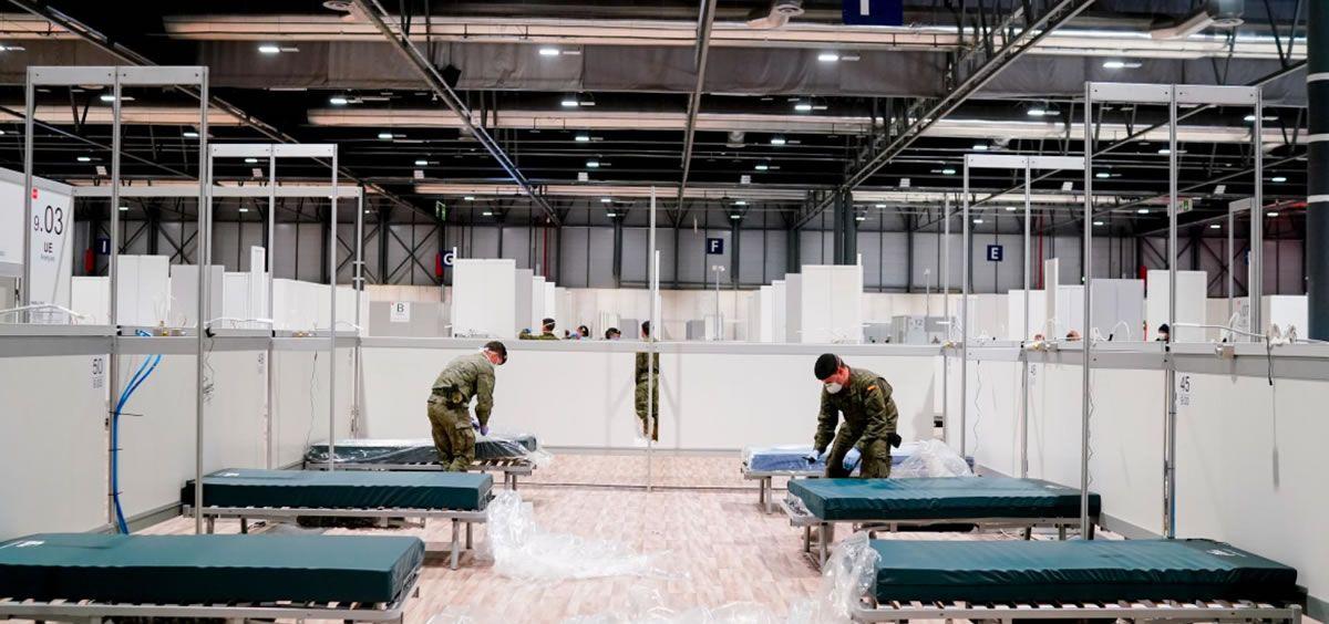 Ifema convertido en el hospital más grande de España para tratar a pacientes con coronavirus covid-19 (Foto. Comunidad de Madrid)